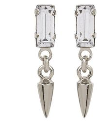 Bing Bang - Baguette Bullet Drop Earrings - Lyst