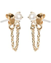 Bing Bang - Pearl Continuous Earrings - Lyst