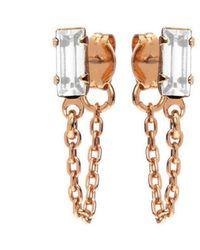Bing Bang - Baguette Continuous Earrings - Lyst