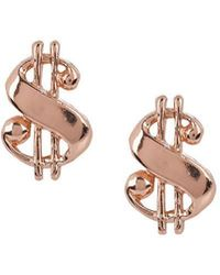 Bing Bang - Baller Money Sign Studs - Lyst