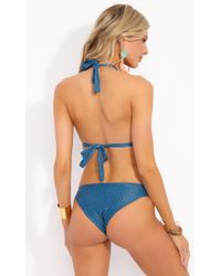Mia Marcelle - Tiffany Bikini Bottom - Teal Tile - Lyst