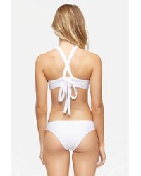 Tavik - Ali Moderate Bikini Bottom - White Textured Chevron - Lyst