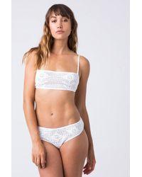 Indah - Isabel Crochet Top - White - Lyst