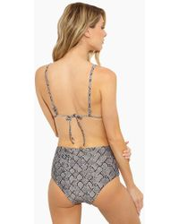 Rosa Cha - Audrey High Waisted Bikini Bottom - Serpent Print - Lyst
