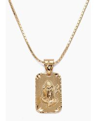 Vanessa Mooney - The Praying Hands Gold Necklace - Gold - Lyst