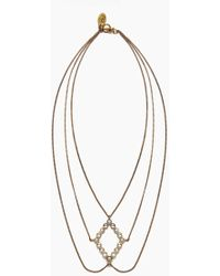 Lena Bernard - Amelia Pearl & Crystal Gold Layered Necklace - Lyst
