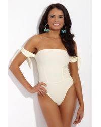 S.I.E SWIM - Harper Strapless One Piece - Ivory - Lyst