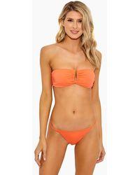 Onia - Genevieve Strapless Bandeau Bikini Top - Sunrise - Lyst