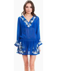 Amita Naithani - Floral Crush Dress - Blue - Lyst