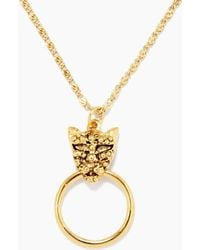 Vanessa Mooney - The Panther Necklace - Gold - Lyst
