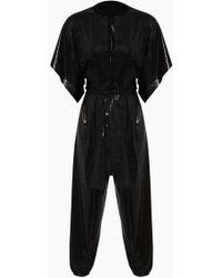 Norma Kamali - Rectangle Jog Short Sleeve Jumpsuit - Black - Lyst