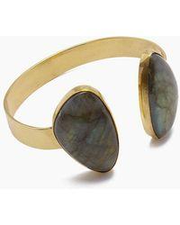 Lena Bernard - Naenia Labradorite Gold Cuff Bracelet - Lyst