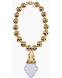 Lena Bernard - Orina Gold Bauble Crystal Pendant Necklace - Lyst