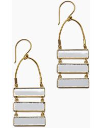 Lena Bernard - Damianis Mirrored Gold Brass Dangle Earrings - Lyst