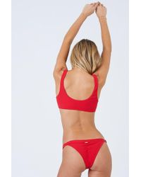 Beach Bunny - Rib Tide Skimpy Bikini Bottom - Red - Lyst