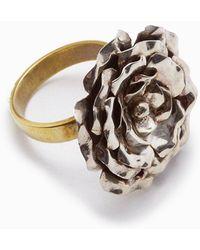 Lena Bernard - Medium Silver Rose Gold Statement Ring - Lyst