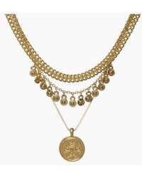 Luv Aj - Noa Coin Charm Necklace - Gold - Lyst