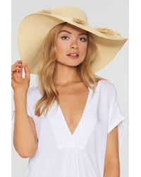 L*Space - Beach Weekend Hat - Natural - Lyst