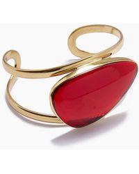Lena Bernard - Naeva Red Quartz Gold Cuff Bracelet - Lyst