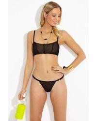 Beach Bunny - Ava Mesh Bralette Bikini Top - Black - Lyst