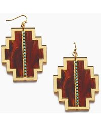 Sandy Hyun - Geometric Earrings - Gold - Lyst