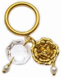 Lena Bernard - Crysta Dangling Charms Gold Ring - Lyst