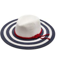 Pia Rossini | Liberty Nautical Straw Hat With Rope Belt | Lyst