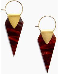 Sandy Hyun - Geometric Hoop Dangle Earrings - Gold/red - Lyst