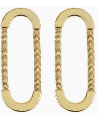Luv Aj - Snake Chain Loop Studs - Gold - Lyst