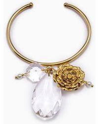 Lena Bernard - Crysta Statement Charms Gold Cuff Bracelet - Lyst