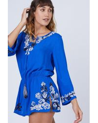 Amita Naithani - Floral Crush Dress - Blue - Lyst