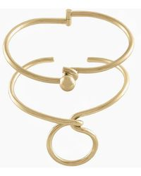 Wanderlust + Co - Forget-me-knot Cuff Set - Gold - Lyst