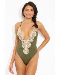 CALZEDONIA Womens Ilenia Criss-Crossed Back Swimsuit