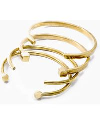 Soko Jewelry - Mixed Shapes Stacking Cuffs - Brass - Lyst