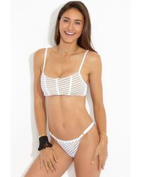 Beach Bunny - Ava Mesh Bralette Bikini Top - White - Lyst