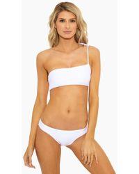 ViX - Ivory One Shoulder Bikini Top - White - Lyst