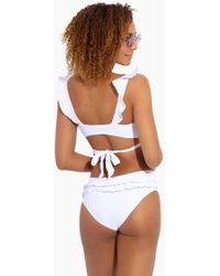 BOAMAR - Dominic Ruffle Cheeky Bikini Bottom - White - Lyst