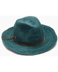 Hat Attack - Raffia Crochet Rancher Hat - Turquoise - Lyst