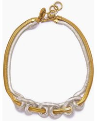 Lena Bernard - Sekai Knotted Gold & Silver Fishtail Collar Necklace - Lyst