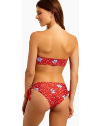 Beach Riot - Jacey Side Knot Bikini Bottom - Red Floral - Lyst