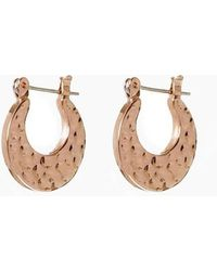 Luv Aj - The Mini Hammered Sheet Hoop Earrings - Rose Gold - Lyst