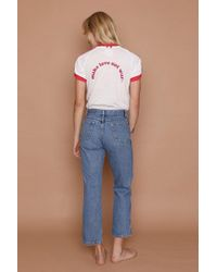 Camp Collection - Make Love Not War Tee - Vintage White W/ Red Trim - Lyst
