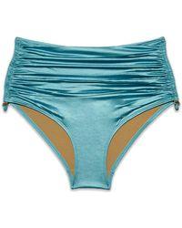 Marlies Dekkers - Holi Glamour High Waist Bikini Bottom - Aqua Blue - Lyst