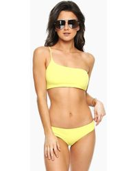 Shore Projects - Tulum One Shoulder Bikini Top - Sunshine Yellow - Lyst