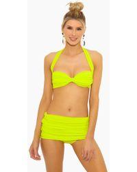 7edcc704a91d7 Norma Kamali - Bill Halter Sweetheart Neckline Bikini Top - Acid - Lyst