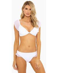 Ella Moss - Shoulder Sheer Dot Soft Bra Bikini Top - White - Lyst