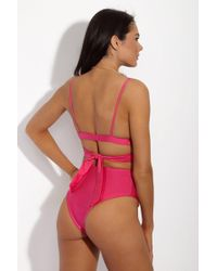 S.I.E SWIM - Moss Bikini Bottom- Metallic Hibiscus - Lyst