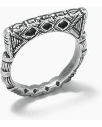"""Vanessa Mooney - Fight The Power """"d"""" Ring - Silver - Lyst"""
