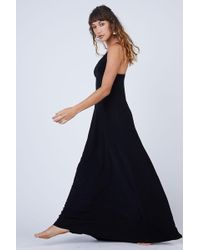 Norma Kamali - Slip A Line Long Dress - Black - Lyst
