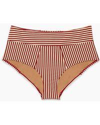 Marlies Dekkers - Holi Vintage High Waist Bikini Bottoms (curves) - Red Ecru - Lyst